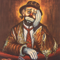 """George Crionas Signed """"Double Martini"""" Limited Edition 25x30 Lithograph at PristineAuction.com"""