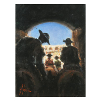 "Fabian Perez Signed ""Camino A La Gloria"" Hand Textured Limited Edition 16x12 Giclee on Board at PristineAuction.com"