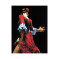 """Fabian Perez Signed """"Flamenco Dancer III"""" Hand Textured Limited Edition 17x12 Giclee on Board at PristineAuction.com"""