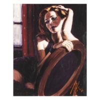 "Fabian Perez Signed ""Laura"" Hand Textured Limited Edition 16x13 Giclee on Board at PristineAuction.com"