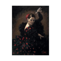 """Fabian Perez Signed """"Pasion Flamenca"""" Hand Textured Limited Edition 16x12 Giclee on Board at PristineAuction.com"""