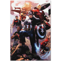 """Marvel Comics """"Avengers: The Children's Crusade #4"""" Limited Edition 18x27 Giclee on Canvas by Jim Cheung at PristineAuction.com"""