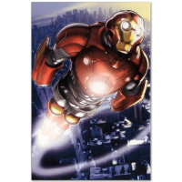 """Marvel Comics """"Ultimate Iron Man II #3"""" Numbered Limited Edition 18x27 Giclee on Canvas by Pasqual Ferry at PristineAuction.com"""