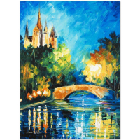 "Leonid Afremov Signed ""Perfect Night"" Limited Edition 18x24 Giclee on Canvas at PristineAuction.com"