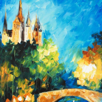 """Leonid Afremov Signed """"Perfect Night"""" Limited Edition 18x24 Giclee on Canvas at PristineAuction.com"""