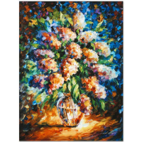 """Leonid Afremov Signed """"A Thoughtful Gift"""" Limited Edition 18x24 Giclee on Canvas at PristineAuction.com"""