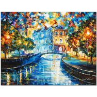 "Leonid Afremov Signed ""House on the Hill"" Limited Edition 24x18 Giclee on Canvas at PristineAuction.com"