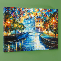 """Leonid Afremov Signed """"House on the Hill"""" Limited Edition 24x18 Giclee on Canvas at PristineAuction.com"""