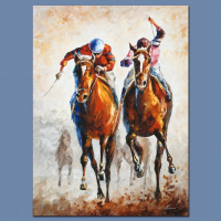 """Leonid Afremov Signed """"Contenders"""" Limited Edition 18x24 Giclee on Canvas at PristineAuction.com"""