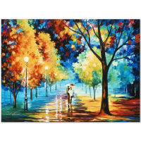 "Leonid Afremov Signed ""Night Alley"" Limited Edition 24x18 Giclee on Canvas at PristineAuction.com"