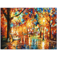 "Leonid Afremov Signed ""Burst of Autumn"" Limited Edition 24x18 Giclee on Canvas at PristineAuction.com"