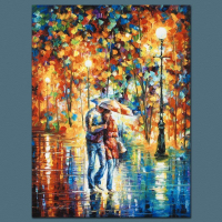 """Leonid Afremov Signed """"Rainy Evening"""" Limited Edition 18x24 Giclee on Canvas at PristineAuction.com"""