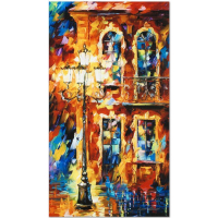 "Leonid Afremov Signed ""Old Light"" Limited Edition 16x27 Giclee on Canvas at PristineAuction.com"