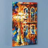 """Leonid Afremov Signed """"Old Light"""" Limited Edition 16x27 Giclee on Canvas at PristineAuction.com"""