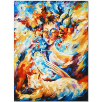 """Leonid Afremov Signed """"Night Cap"""" Limited Edition 18x24 Giclee on Canvas at PristineAuction.com"""