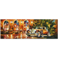 """Leonid Afremov Signed """"1934 Packard"""" Limited Edition 35x12 Giclee on Canvas at PristineAuction.com"""