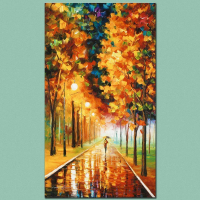 """Leonid Afremov Signed """"Light of Autumn"""" Limited Edition 16x27 Giclee on Canvas at PristineAuction.com"""