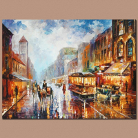 """Leonid Afremov Signed """"Paris 1925"""" Limited Edition 24x18 Giclee on Canvas at PristineAuction.com"""
