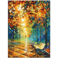 """Leonid Afremov Signed """"Misty Park"""" Limited Edition 18x24 Giclee on Canvas (PA LOA) at PristineAuction.com"""