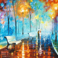 """Leonid Afremov Signed """"Misty Mood"""" Limited Edition 24x18 Giclee on Canvas (PA LOA) at PristineAuction.com"""