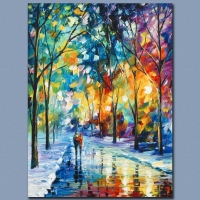 """Leonid Afremov Signed """"Under the Gaze"""" Limited Edition 18x24 Giclee on Canvas (PA LOA) at PristineAuction.com"""