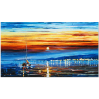 """Leonid Afremov Signed """"Bright Star"""" Limited Edition 27x16 Giclee on Canvas (PA LOA) at PristineAuction.com"""