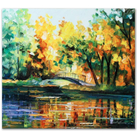 """Leonid Afremov Signed """"To Walk Alone"""" Limited Edition 22x20 Giclee on Canvas at PristineAuction.com"""