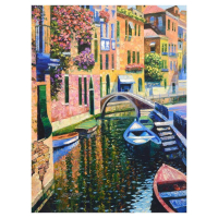 """Howard Behrens Signed """"Romantic Canal"""" Limited Edition 24x32 Giclee on Canvas at PristineAuction.com"""