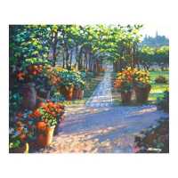 "Howard Behrens Signed ""Siena Arbor"" Limited Edition 32x24 Giclee on Canvas at PristineAuction.com"