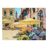 """Howard Behrens Signed """"Siena Flower Market"""" Limited Edition 32x24 Giclee on Canvas at PristineAuction.com"""