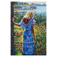 """Howard Behrens Signed """"My Beloved, By The Lake"""" Limited Edition 24x36 Giclee on Canvas at PristineAuction.com"""