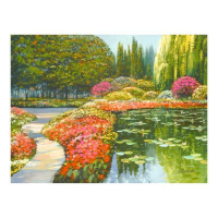 """Howard Behrens Signed """"The Colors Of Giverny """" Limited Edition 32x24 Giclee on Canvas at PristineAuction.com"""