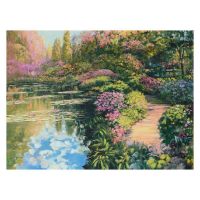 "Howard Behrens Signed ""Giverny Path"" Limited Edition 32x24 Giclee on Canvas at PristineAuction.com"