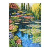 """Howard Behrens Signed """"Shimmering Waters Of Giverny"""" Limited Edition 24x32 Giclee on Canvas at PristineAuction.com"""