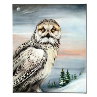 """Martin Katon Signed """"Snow Owl in Alaska"""" Limited Edition 20x24 Giclee on Canvas at PristineAuction.com"""