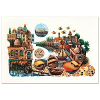 "Amram Ebgi Signed ""City of Jaffa"" Limited Edition 28x19 Lithograph at PristineAuction.com"