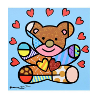 """Romero Britto Signed """"Happy Boy"""" Limited Edition 24x24 Giclee on Canvas at PristineAuction.com"""