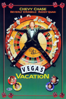 """Chevy Chase Signed """"Vegas Vacation"""" 12x18 Photo (Beckett COA) at PristineAuction.com"""