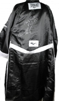 "Mike Tyson & Evander Holyfield Signed Everlast Boxing Robe Inscribed ""Iron"" (PSA COA) at PristineAuction.com"