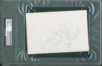 Evander Holyfield Signed 4x6 Index Card (PSA Encapsulated) at PristineAuction.com
