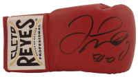 "Floyd Mayweather Jr. Signed Cleto Reyes Boxing Glove Inscribed ""50-0"" (Beckett COA) at PristineAuction.com"