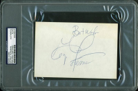 """George Foreman Signed 4x6 Index Card Inscribed """"Best wishes"""" (PSA Encapsulated) at PristineAuction.com"""
