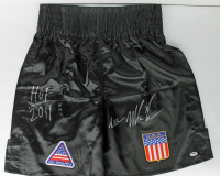 "Mike Tyson Signed Boxing Shorts Inscribed ""HOF 2011"" & ""Iron""  (PSA COA) at PristineAuction.com"