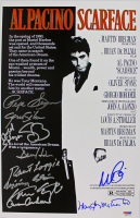 """Scarface"" 11x17 Photo Cast-Signed by (11) with Al Pacino, Pepe Serna, Geno Silva, Steven Bauer, Dennis Holahan, Angel Salazar (PSA LOA) at PristineAuction.com"