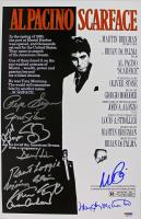 """Scarface"" 11x17 Photo Cast-Signed by (11) with Al Pacino, Pepe Serna, Geno Silva, Steven Bauer, Dennis Holahan, Angel Salazar (PSA LOA) at PristineAuction.com"
