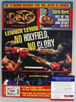 Lennox Lewis Signed 1998 Ring Magazine (PSA COA) at PristineAuction.com