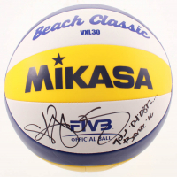 "Kerri Walsh Jennings Signed Volleyball Inscribed ""Gold '04 '08 '12..."" & ""Bronze '16"" (PSA COA) at PristineAuction.com"