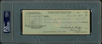 Jimmy Demaret Signed Bank Check (PSA Encapsulated) at PristineAuction.com