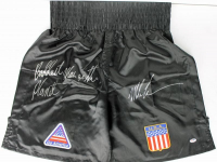 "Mike Tyson Signed Team USA Boxing Trunks Inscribed ""Baddest Man On The Planet""  (PSA COA) at PristineAuction.com"