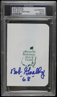 "Bob Goalby Signed Augusta National Golf Club Scorecard Inscribed ""68"" (PSA Encapsulated) at PristineAuction.com"